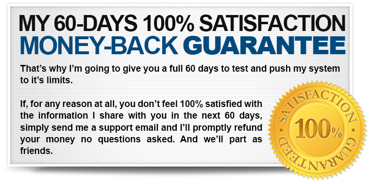 Your 60 Day Money Back Guarantee